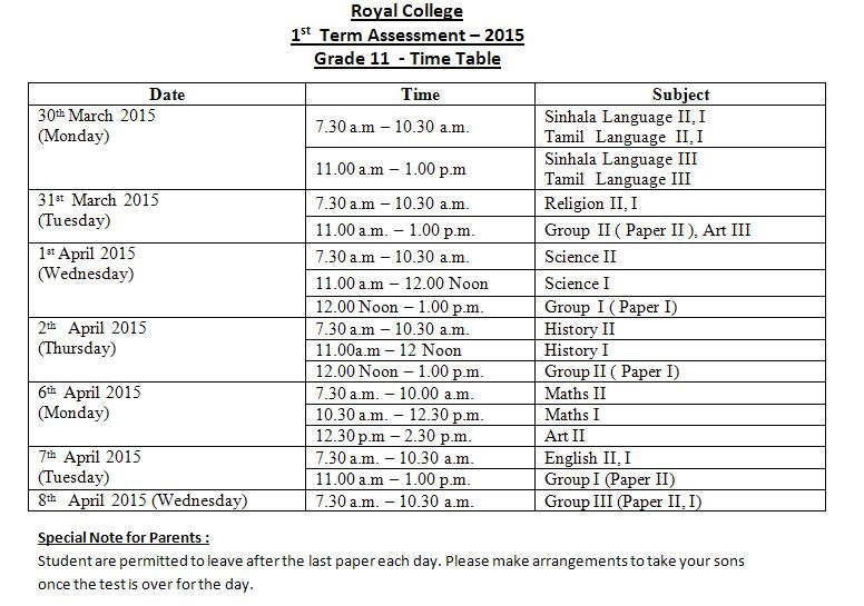 Western province term test papers grade 11 2016