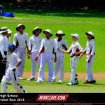 Melbourne high school cricket match